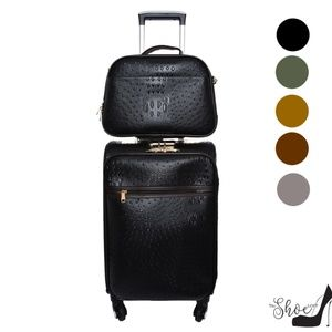 My Bag Lady Online Bags - Ostrich Carry On & Overnight Bag Travel Set